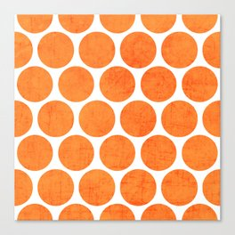 orange polka dots Canvas Print