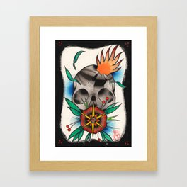 Skull of Unnamed Fear Framed Art Print
