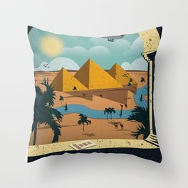 Vintage poster - Cairo Throw Pillow