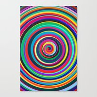 circus Canvas Prints featuring CIRCUS by THE USUAL DESIGNERS