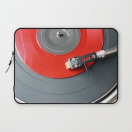 Red Vinyl Record Laptop Sleeve