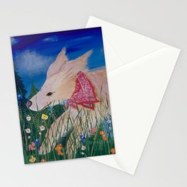 Gorgeous Golden Retriever in flowers in Bandana Stationery Cards
