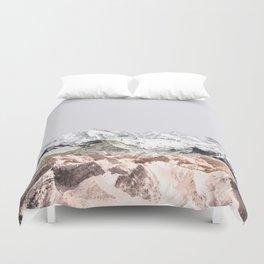 Pastel Mountains I Duvet Cover