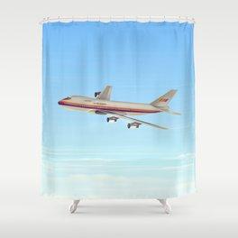 Commercial jet liner Shower Curtain