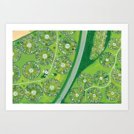 Green Garden City in Denmark Art Print