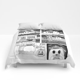 Trick or Treat Ghost Comic Comforters