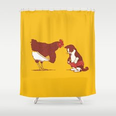 Show me yours and I'll show you mine Shower Curtain
