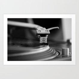 Turntable Sound Art Print
