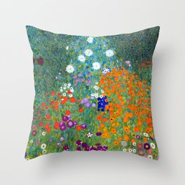 Gustav Klimt Flower Garden Deko-Kissen