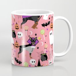Min Pin halloween miniature doberman pinscher cute dog breed gifts Coffee Mug