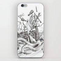 kraken iPhone & iPod Skins featuring Kraken by Incirrina
