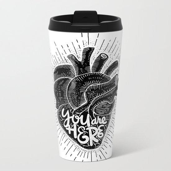 you are here Metal Travel Mug