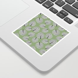 Abstract Monstera Leaf Pattern green Sticker