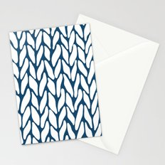 Hand Knitted Navy Stationery Cards