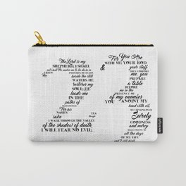 Psalm 23 Typography Carry-All Pouch