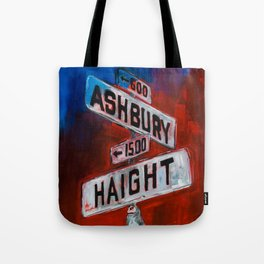 Haight and Hashbury Tote Bag