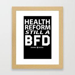 Healt reform Framed Art Print