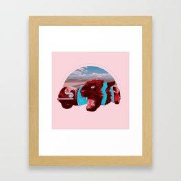 Jaguar Cross Section Framed Art Print