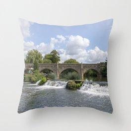 Bathampton bridge Throw Pillow