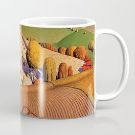 Classical Masterpiece 'Fall Plowing' by Grant Wood Coffee Mug