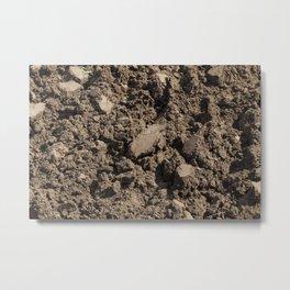 Dark soil Metal Print
