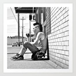 Tacoma skater Art Print