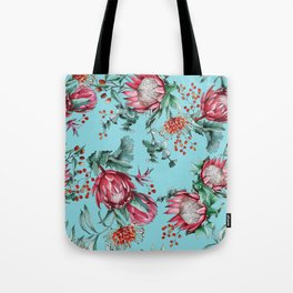 King protea flowers watercolor illustration Tote Bag