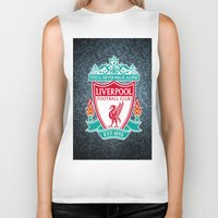 liverpool Biker Tanks featuring LIVERPOOL by Acus
