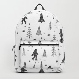 trees + yeti pattern Backpack