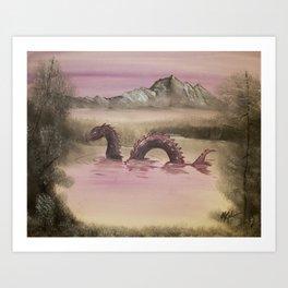 The Lake Serpent Art Print