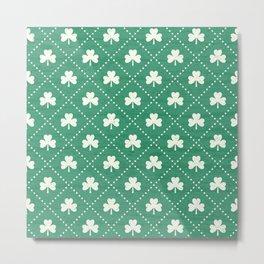 SHAMROCK ON! - emerald Metal Print