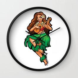 Hula Ukulele Wall Clock