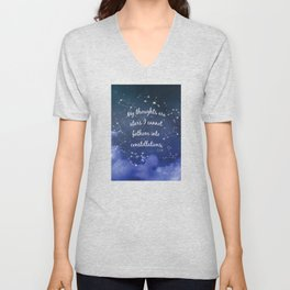 Thoughts and stars... Unisex V-Neck
