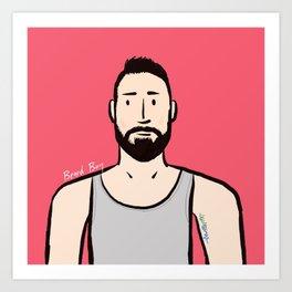 Beard Boy: Jaume Art Print