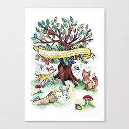 Woodlands Children's Room Poster Canvas Print