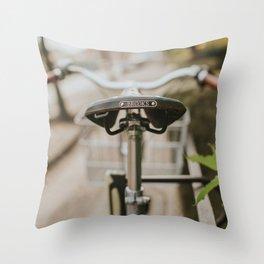 Brooks Bike in Gothenburg  Throw Pillow