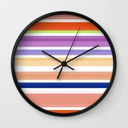 nice stripes orange Wall Clock