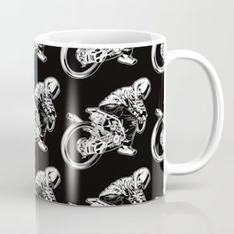 Motorbike Pattern Coffee Mug