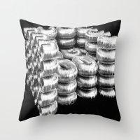 daria Throw Pillows featuring AIR DUCT CHAIR BY DARIA PIRNIA by Daria Pirnia