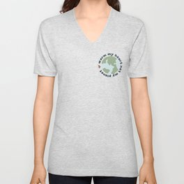 Warm my heart not my planet Unisex V-Neck
