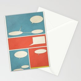 Empty Comic Stationery Cards