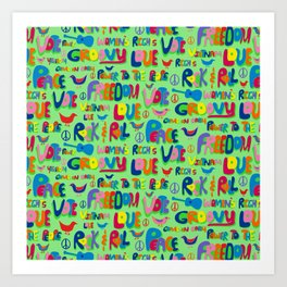 1960s Word Power Art Print