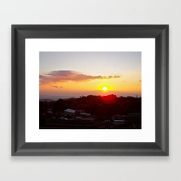 Sunset on the Slum Framed Art Print