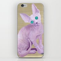sphynx iPhone & iPod Skins featuring sphynx by terastar