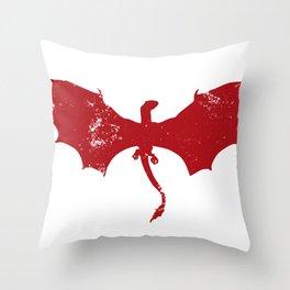 Vintage Game Dragon Throw Pillow