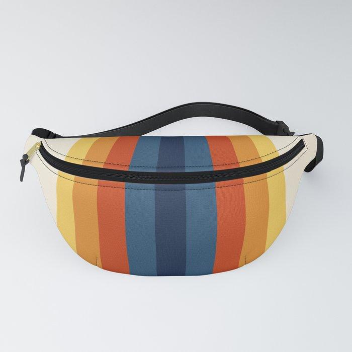 Bright 70's Retro Stripes Fanny Pack
