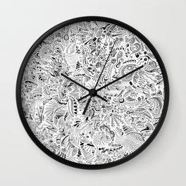 Organic forms on white Wall Clock