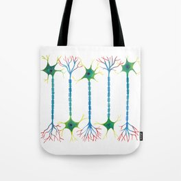 Neuron 5 in White Tote Bag