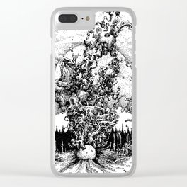 colour out of space Clear iPhone Case