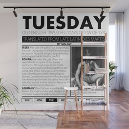 TUESDAY AND THE MYTH BEHIND IT Wall Mural